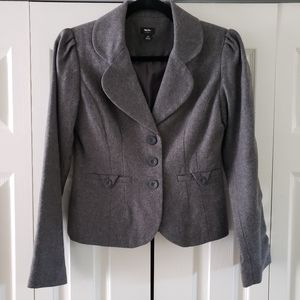 Mossimo Cute Puffy Sleeve Grey Tailored Blazer XS